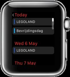 Apple Watch: Agenda-app