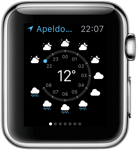 Apple Watch: weerbericht