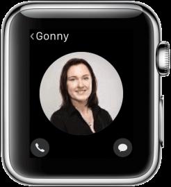 Apple Watch: contacten