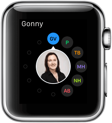 Apple Watch: contacten