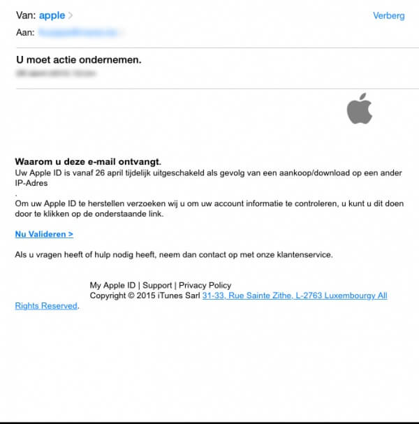 apple phishing nep mail