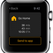 Navigon Apple Watch screenshot