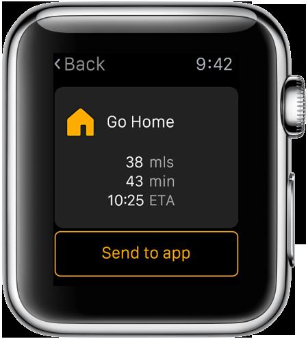 Navigon Apple Watch screenshot
