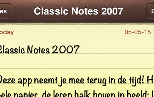 Classic Notes 2007 screenshot featured