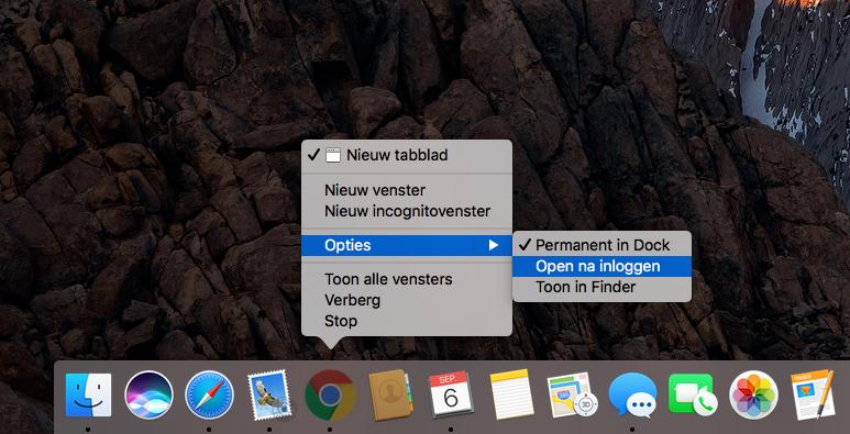 Automatisch inloggen Google Chrome uitschakelen.