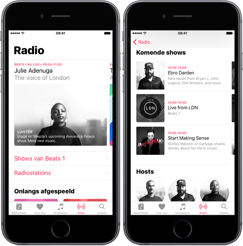 Radio en Beats 1 in Apple Music.