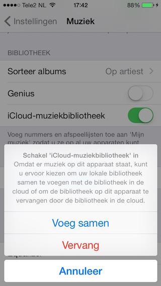 iCloud-Muziekbibliotheek