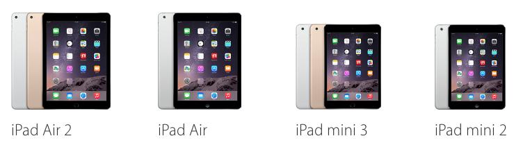 Beschikbare iPads