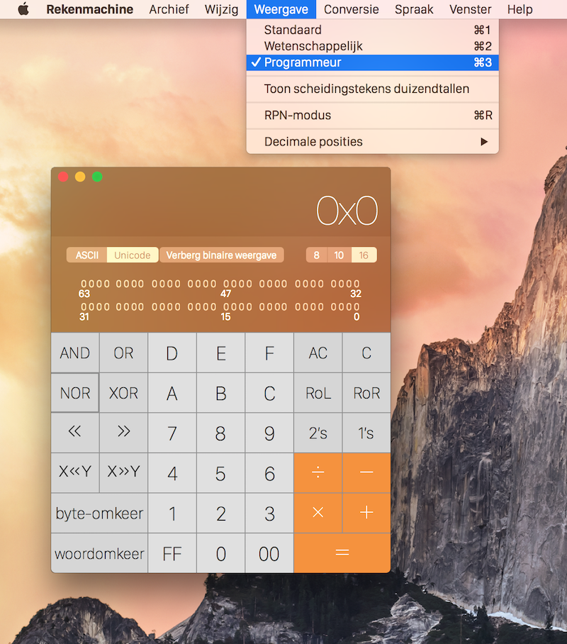 rekenmachine programmeur