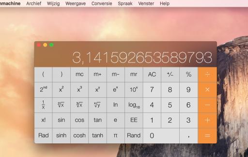 rekenmachine uitgelicht