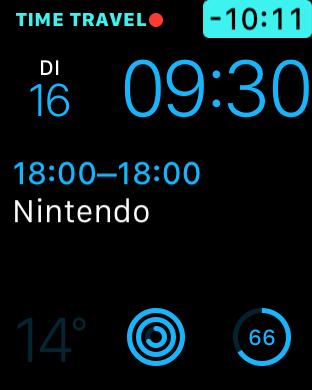 Time Travel achteruit Apple Watch watchOS 2