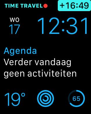 Time Travel vooruit Apple Watch watchOS 2