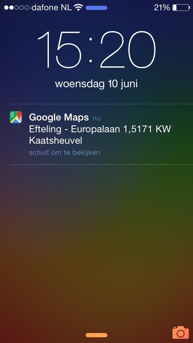google maps locatie verstuurd naar iphone