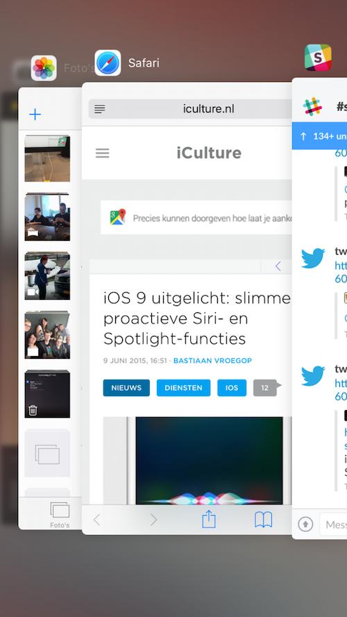 Multitasking iOS 9