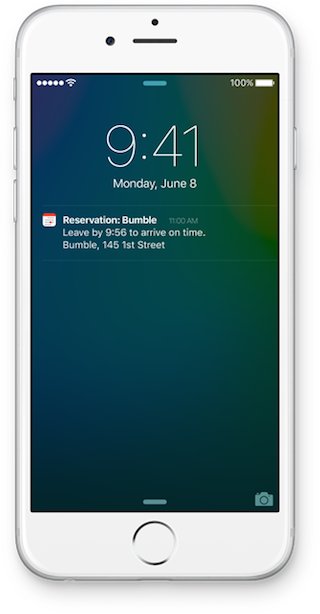 iOS 9 Siri vertrek afspraak