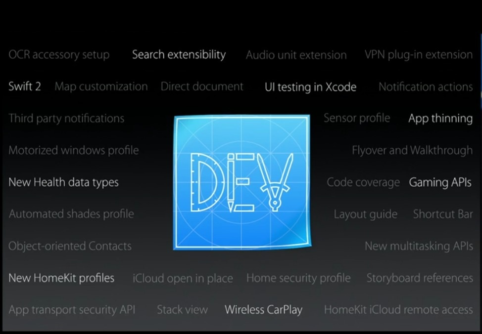 iOS 9 dev functies