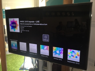 WWDC 2015 livestream Apple TV