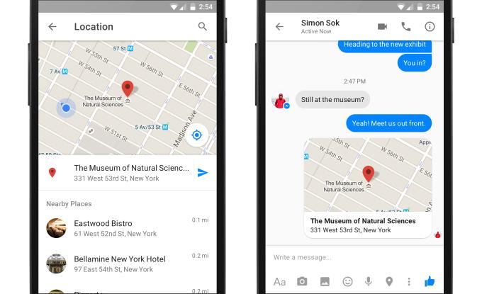 Facebook Messenger locatie kaart 2