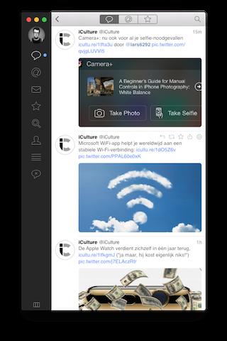 Tweetbot 2 Mac foto's in tijdlijn