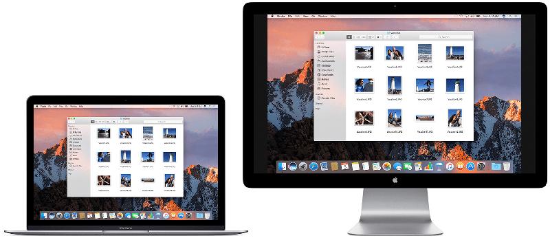 Mac beeldscherm synchrone weergave
