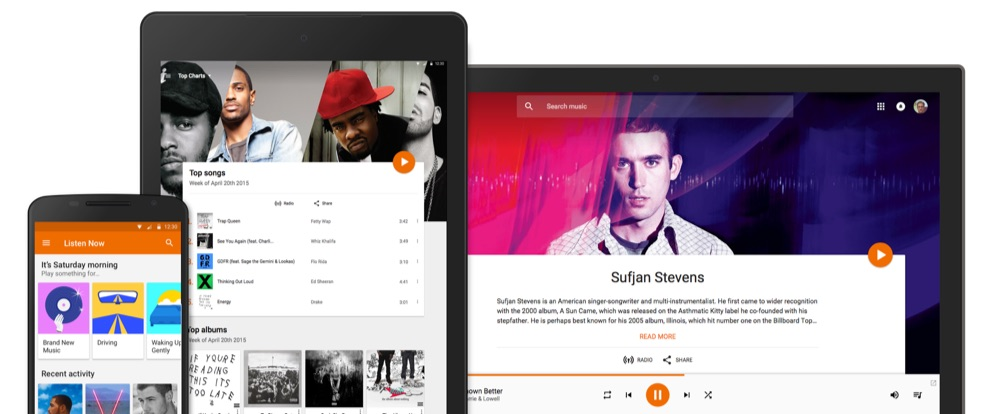 Google Play Music apps.