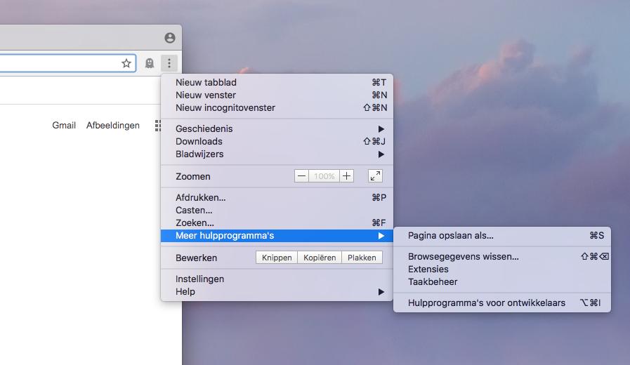 Chrome-extensies controleren met taakbeheer.