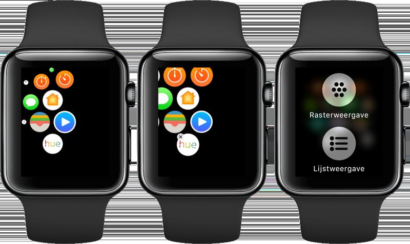 Apps verwijderen van Apple Watch