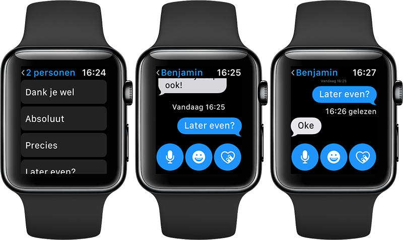Standaardantwoorden Apple Watch