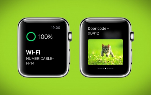 Glances op Apple Watch