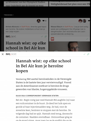Blendle iPad artikel