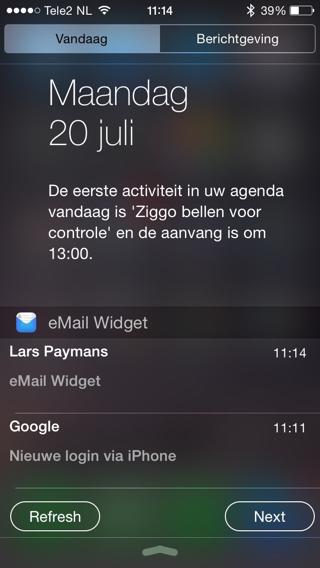 eMail-Widget