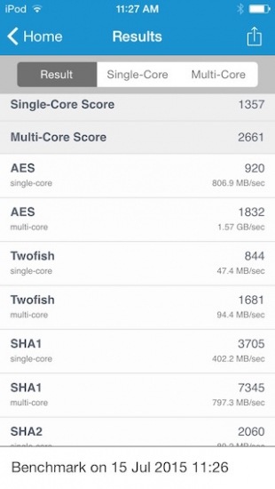iPod touch benchmark 2