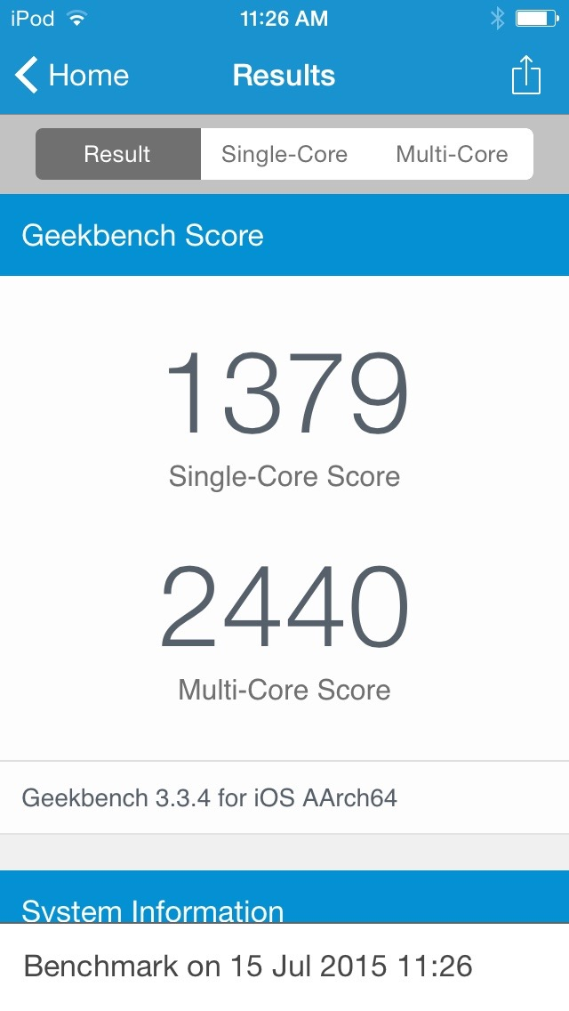 iPod touch benchmark 1