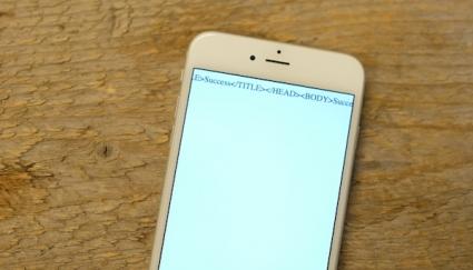 iPhone Success error foto
