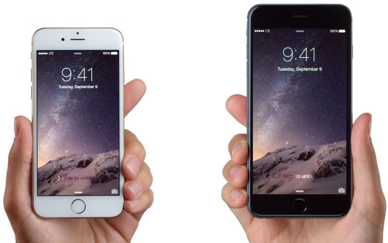 iphones in handen