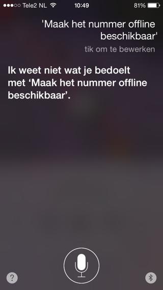 Siri-Offline-Beschikbaar