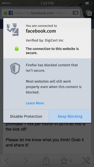 Firefox iOS 4