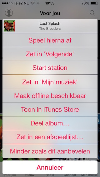 Apple-Music-Minder-Aanbevelen