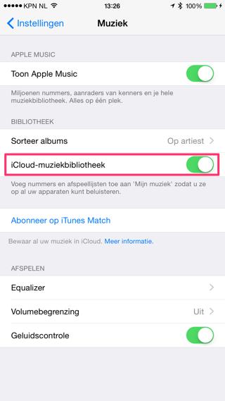 icloud-muziekbibliotheek-inschakelen-markering