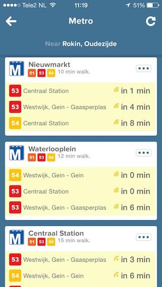 Citymapper-metrolijnen
