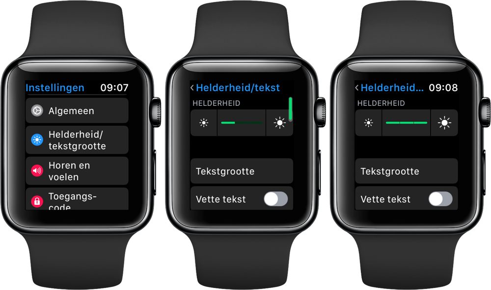 Apple Watch: helderheid scherm aanpassen