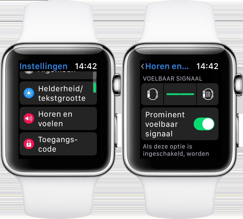Apple Watch horen en voelen