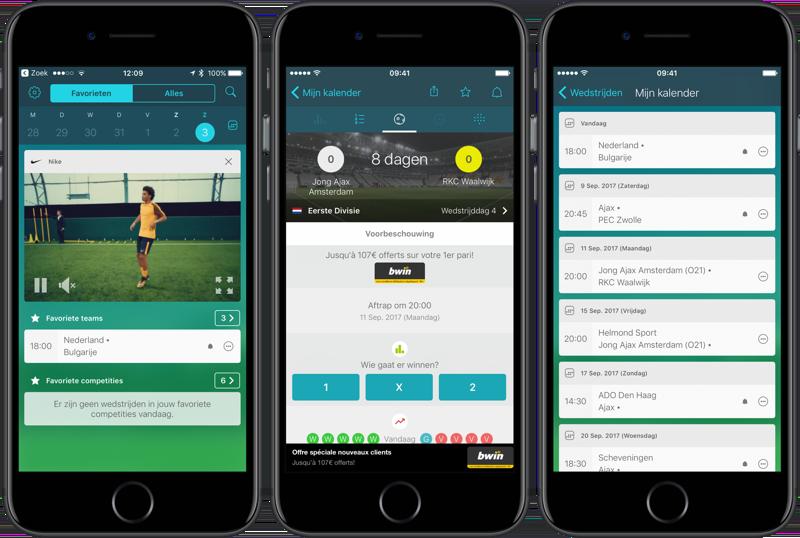 Forza voetbalstanden app