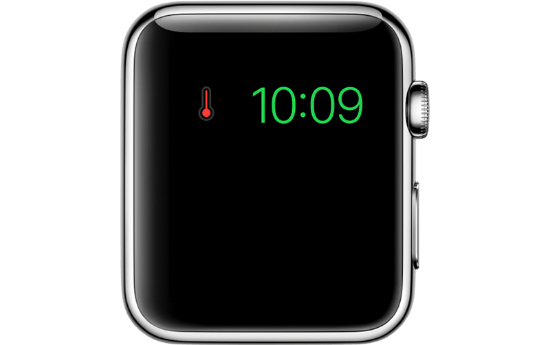 Apple Watch temperatuurwaarschuwing bij oververhitting