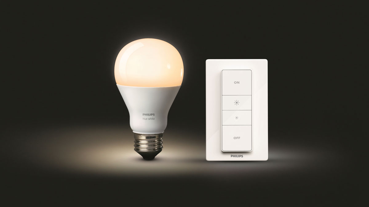 philips hue dimmer lampen dimmen met speciale knop. Black Bedroom Furniture Sets. Home Design Ideas