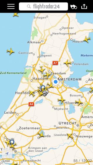 Flightradar24-kaart