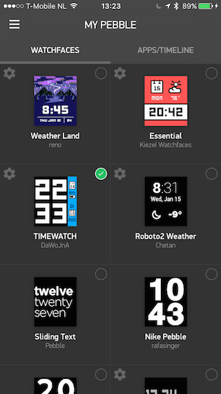Pebble Time watchfaces