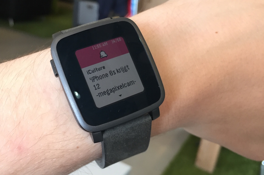 Pebble Time Steel pols