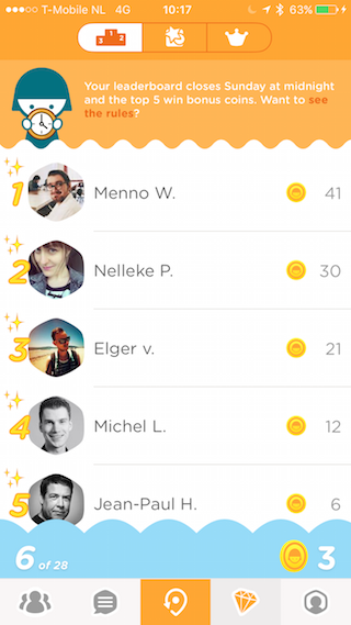 Foursquare Swarm ranglijsten