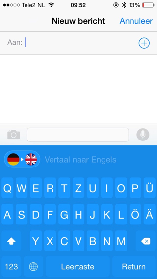 iTranslate-Toetsenbord